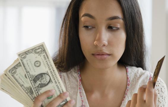 credit card versus cash