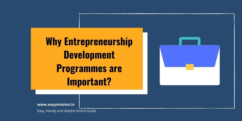 Why Entrepreneurship Development Programmes are Important