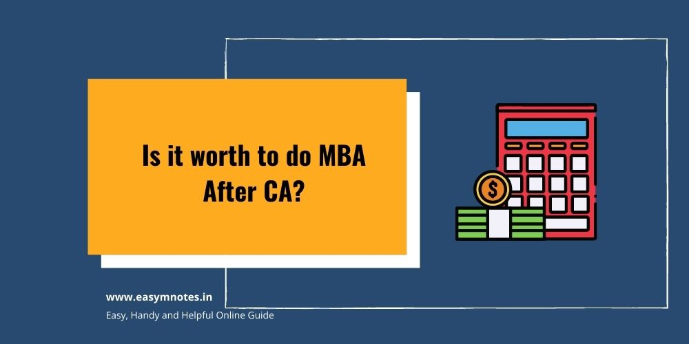 Is it worth to do MBA After CA