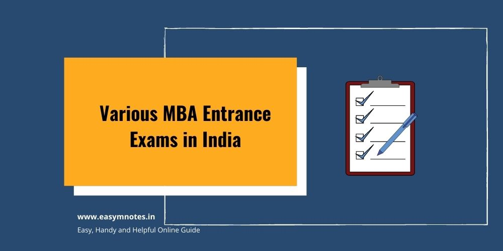 Various MBA Entrance Exams in India