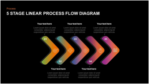 5 Steps Linear Process Flow Diagram