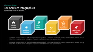 Box Services Infographics powerpoint templates Keynotes