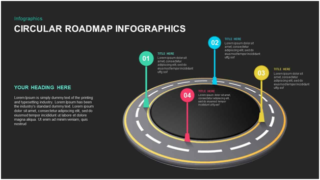 Circular Roadmap Powerpoint Template