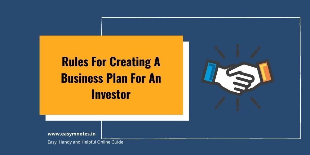 Creating A Business Plan For An Investor