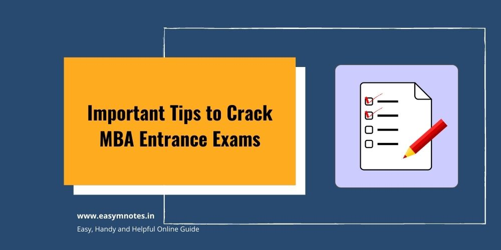 Important Tips to Crack MBA Entrance Exam