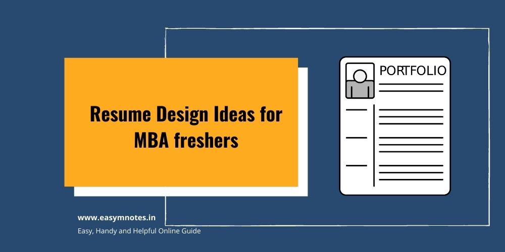 Resume Design Ideas for MBA fresher
