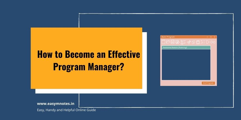 Become an Effective Program Manager