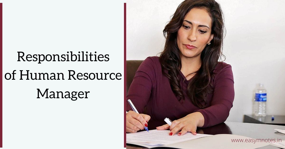 Responsibilities of Human Resource Manager