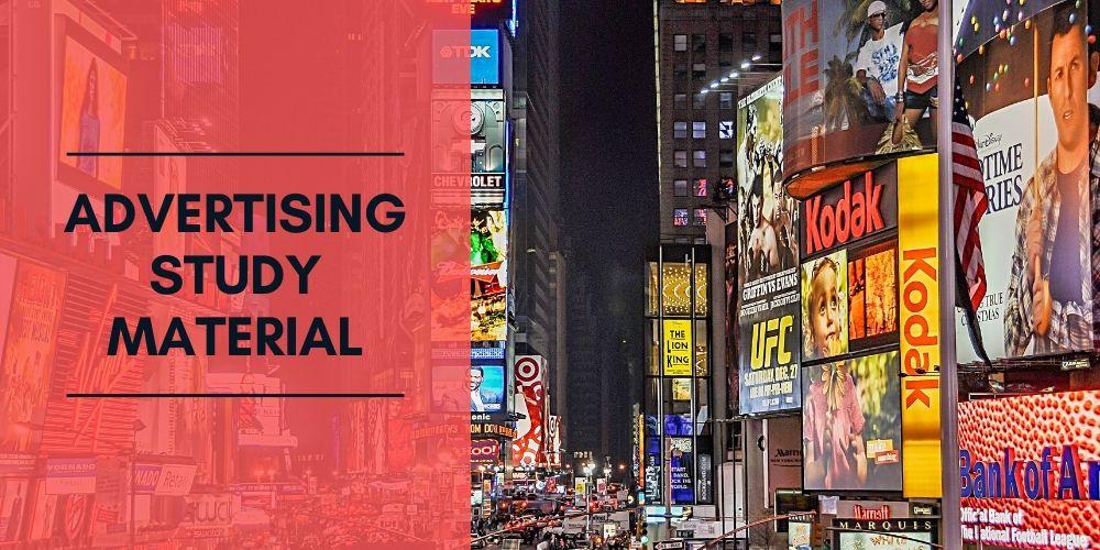 Advertising Study Material