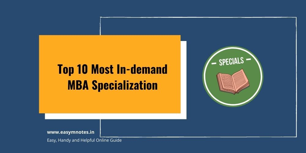 Top 10 Most In-demand MBA Specialization