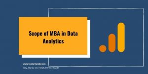 Scope of MBA in Data Analytics