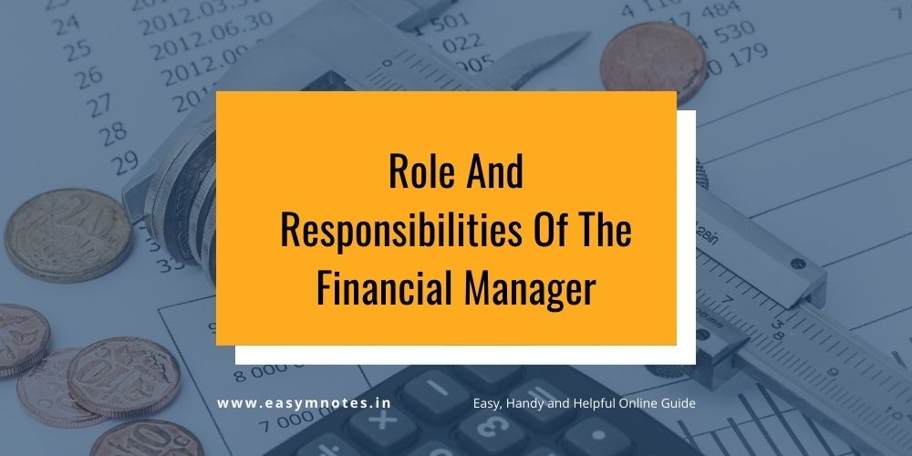 Role And Responsibilities Of The Financial Manager
