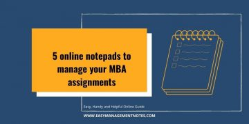 online notepads to manage your MBA assignments